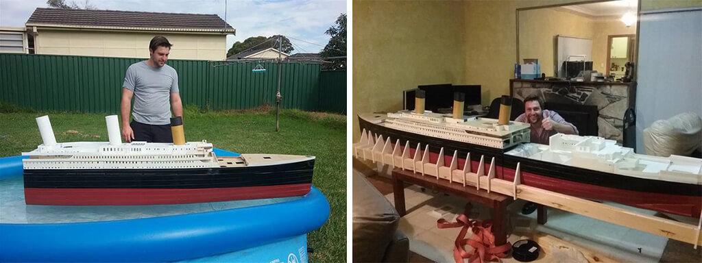 Titanic 1/72 scale model