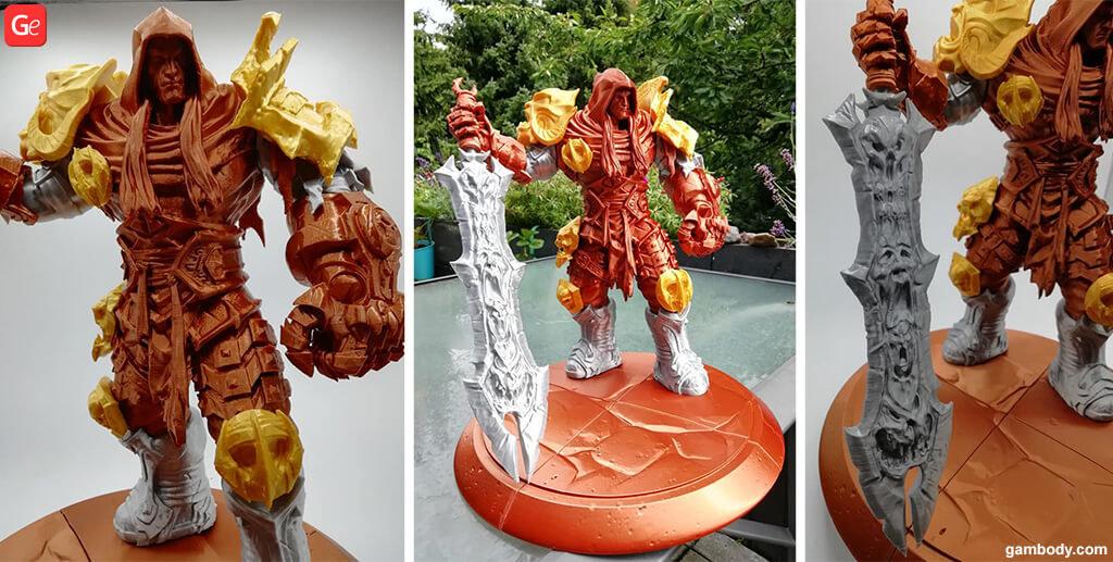 3D War warrior printed figurine