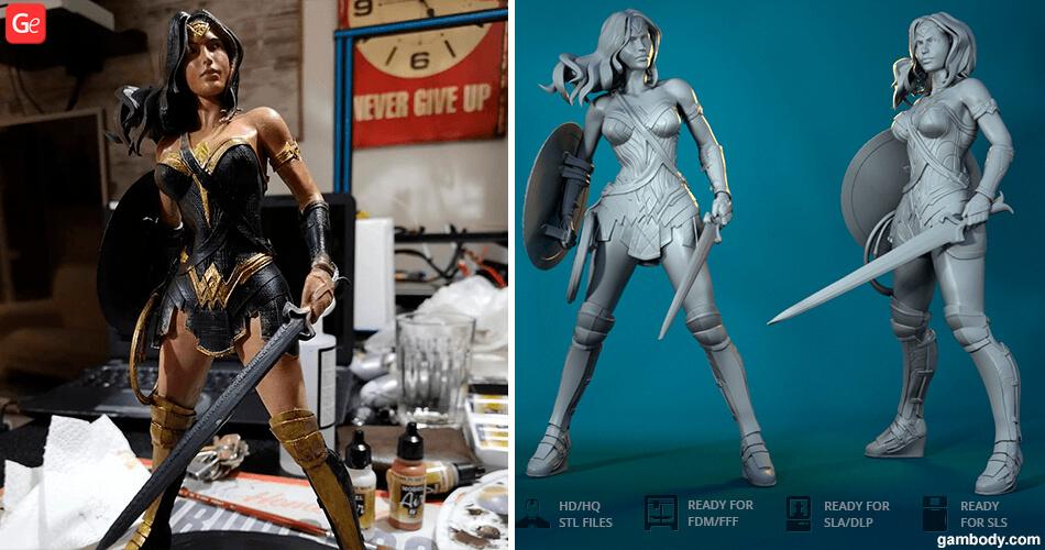 Wonder Woman 3D model to print