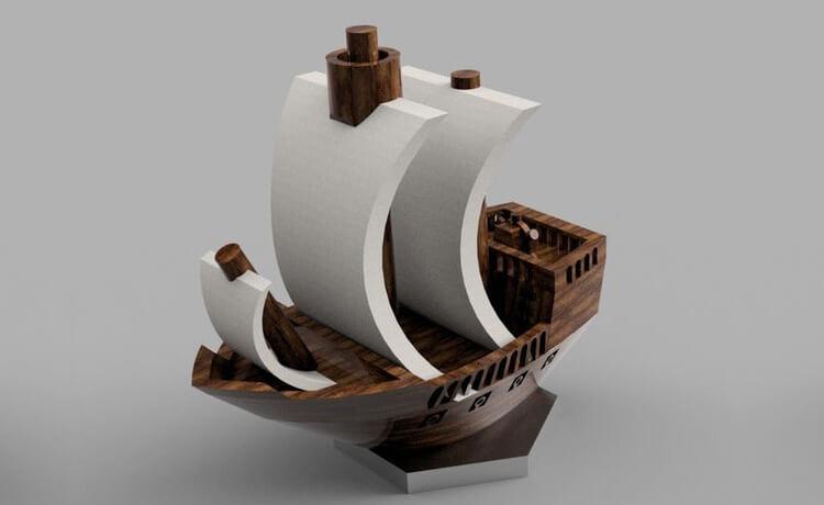 Pirate ship 3D print