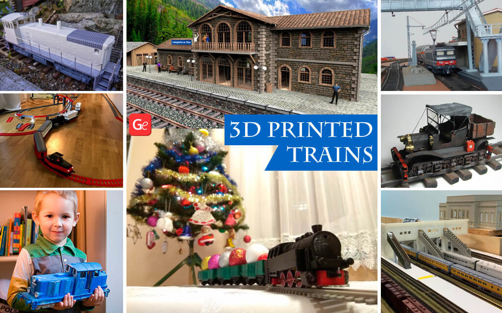 3D printed trains