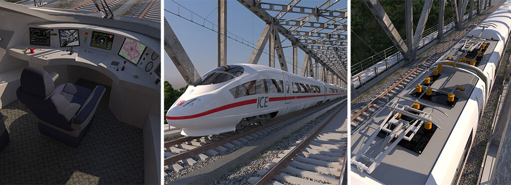 Speed train ICE-3 3D model to print