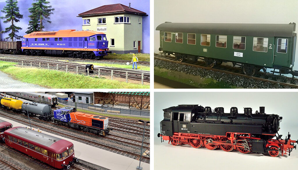 3D printed railway models