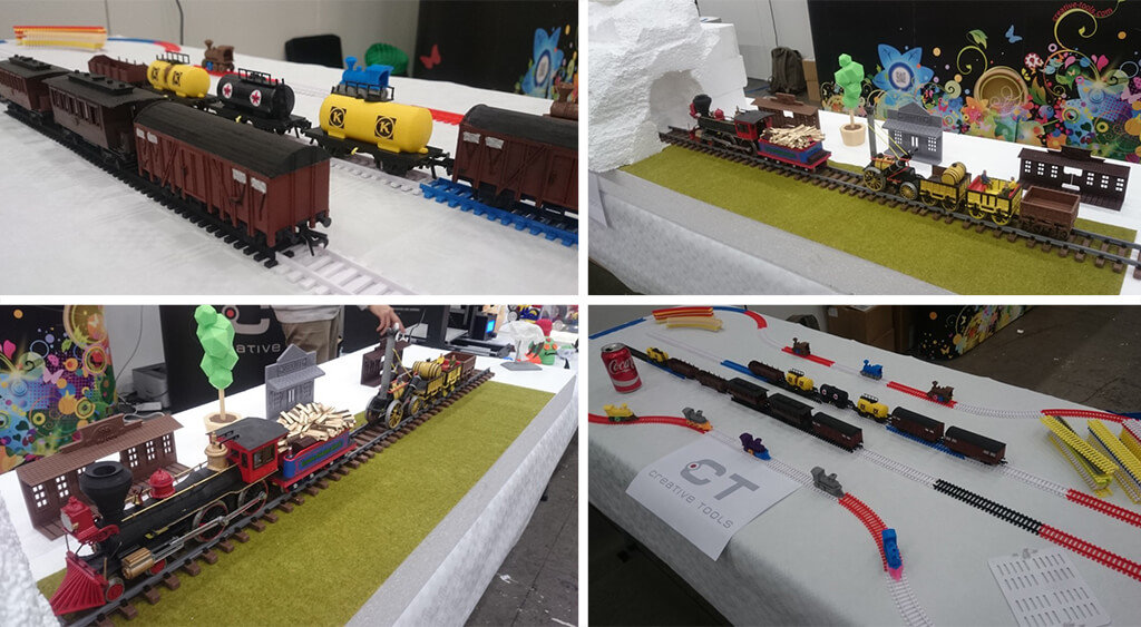 3D printed trains and tracks