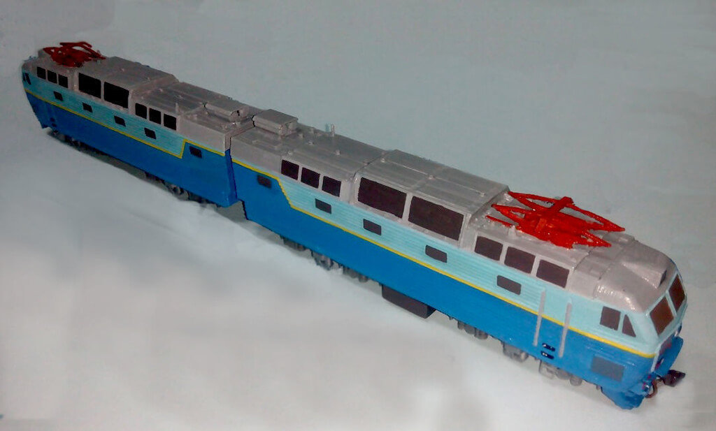 Russian train 3D model ChS7
