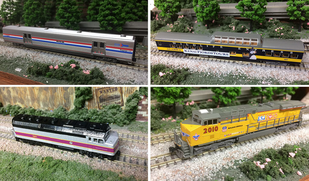 N-scale trains 3D printed