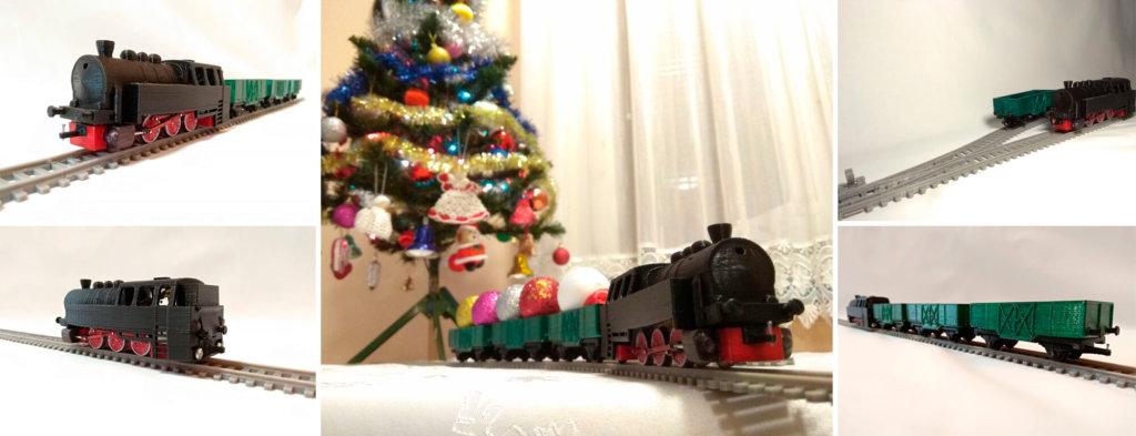 3D printed train track