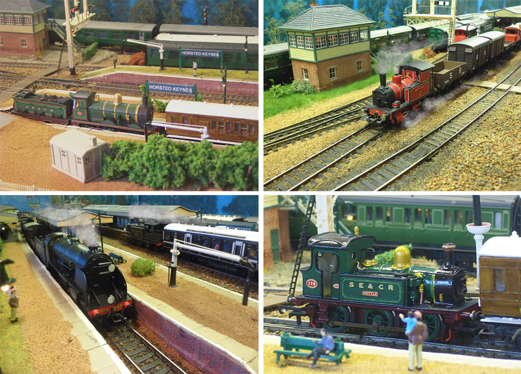 Railroad 3D print and trains