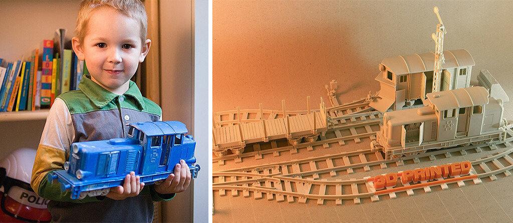 Lego train 3D print