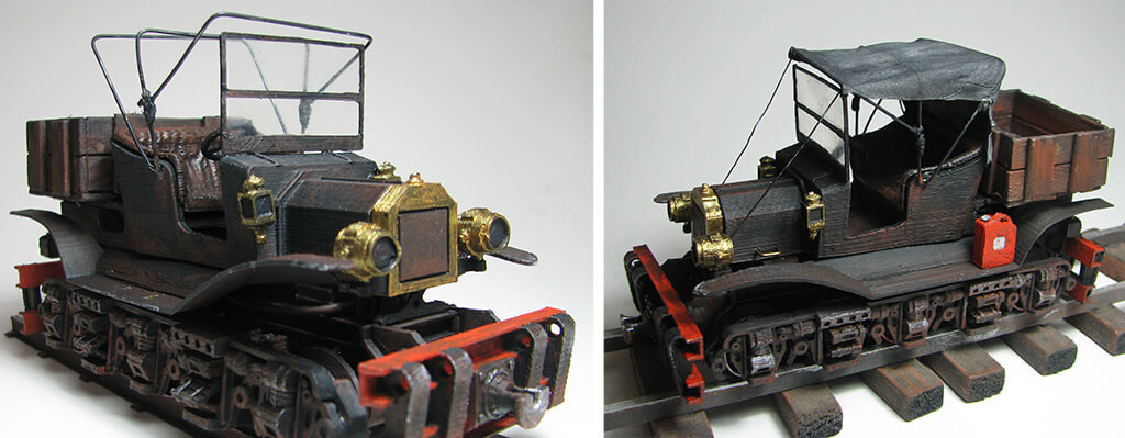 Vintage train 3D model free