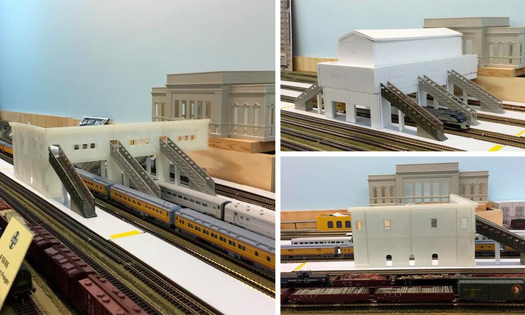 3D printed railway station