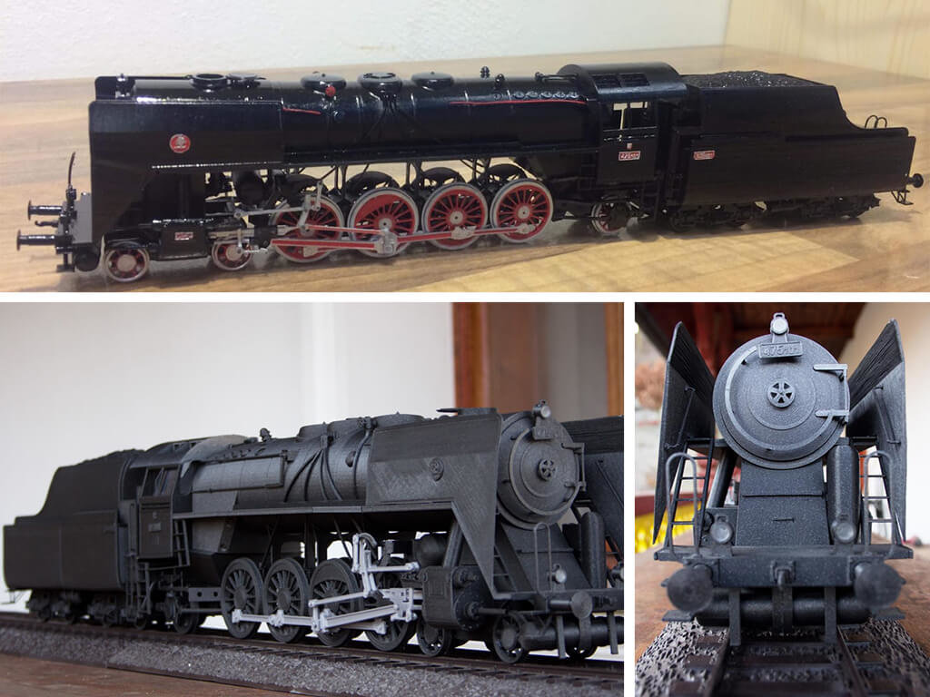 Steam train 3D model printed
