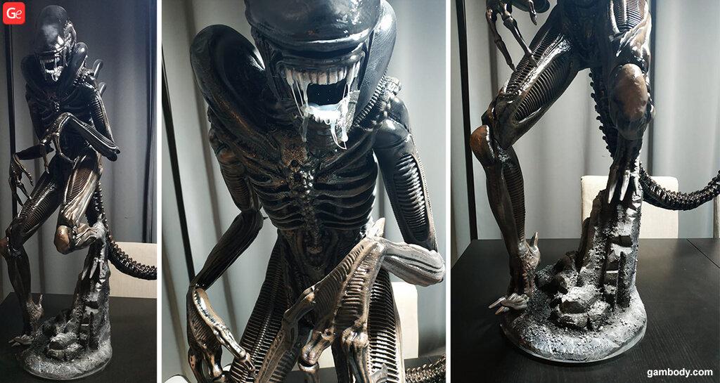 Alien Xenomorph statue 3D printing trends