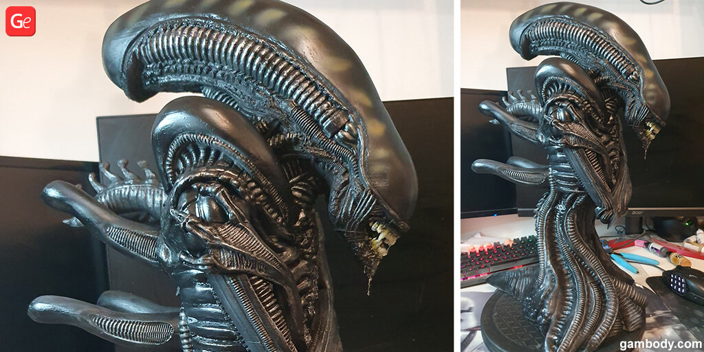 Alien Xenomorph bust trending 3D print of August