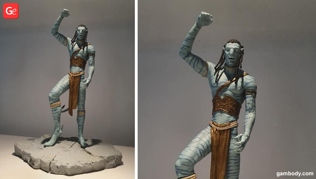 Avatar Jake Sully figurine 3D printing trends
