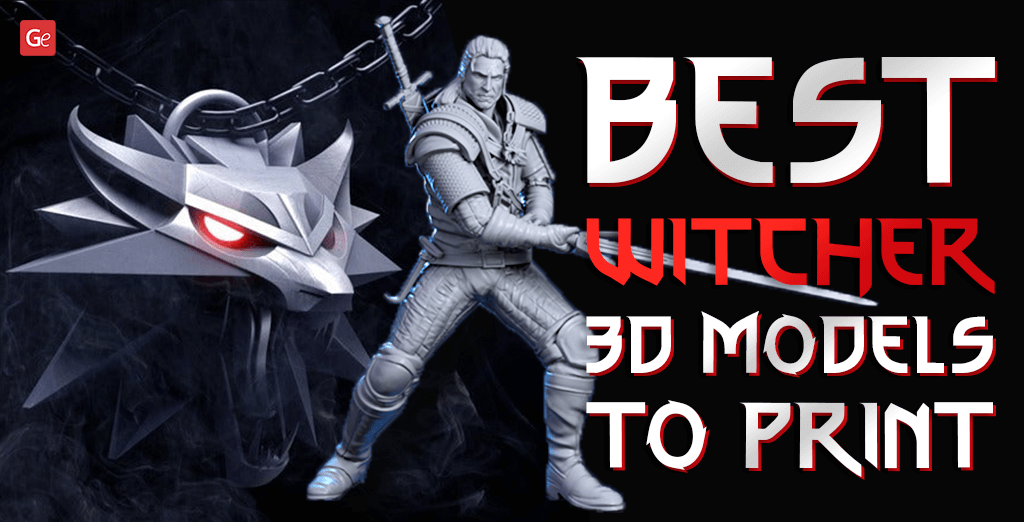 Witcher 3D model to print
