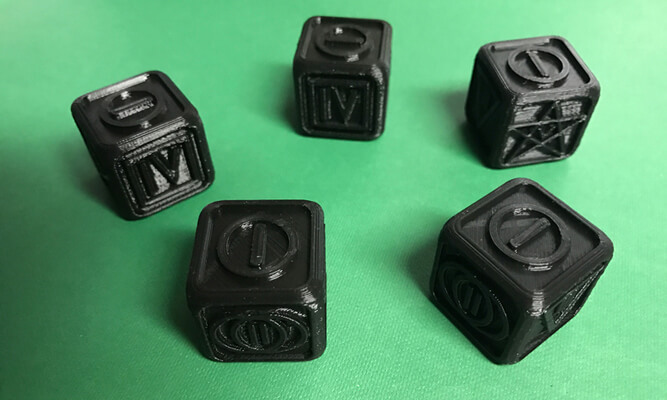 Dice Poker from Witcher movie 2019 3D printed