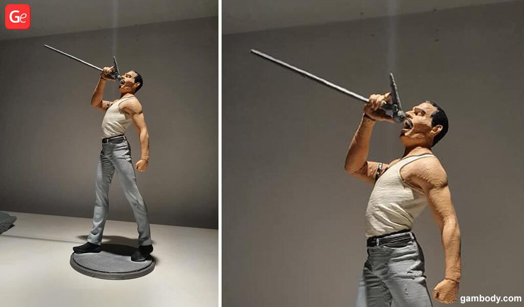 Freddie Mercury figurine 3D printing trends