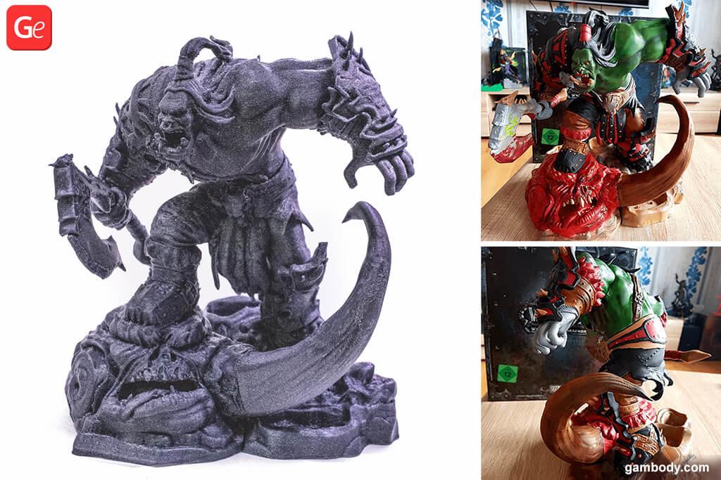 WOW Grom Hellscream Statue 3D printing model