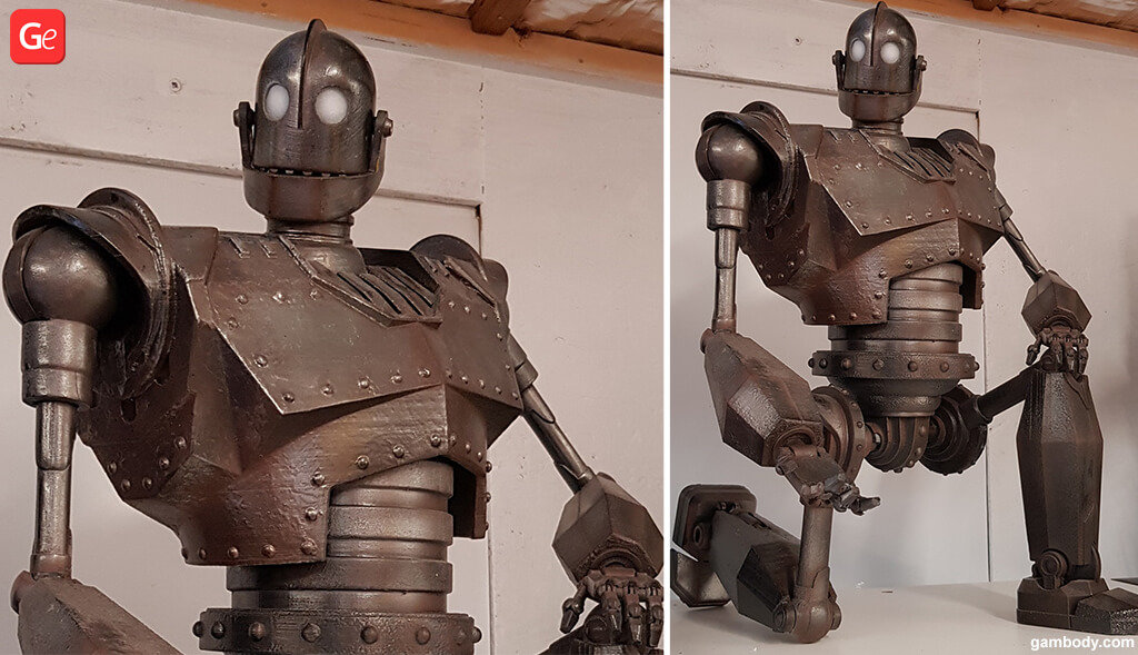 Iron Giant figurine 3D printing trends