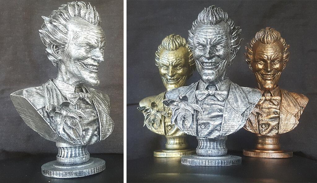 3D printed Joker bust