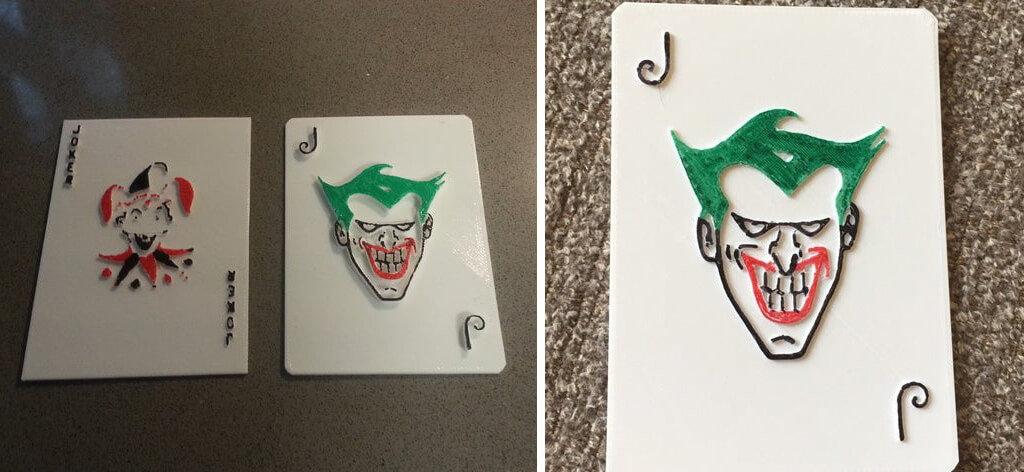 Joker playing cards 3D printed