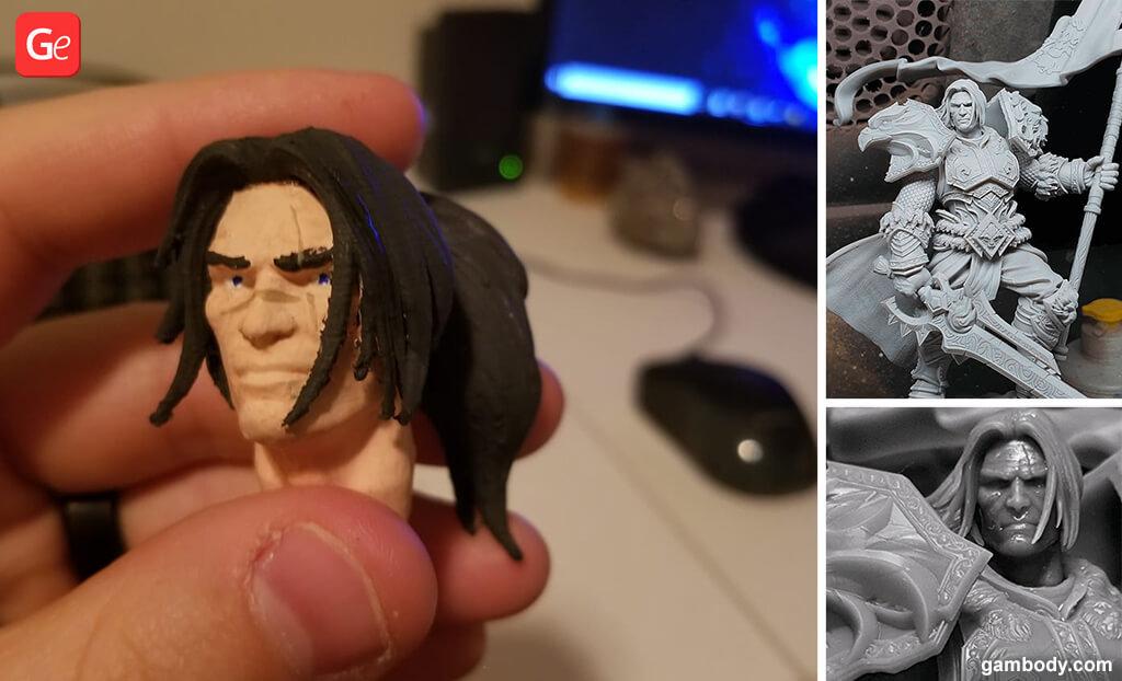 King Varian Wrynn statue WOW 3D printing model