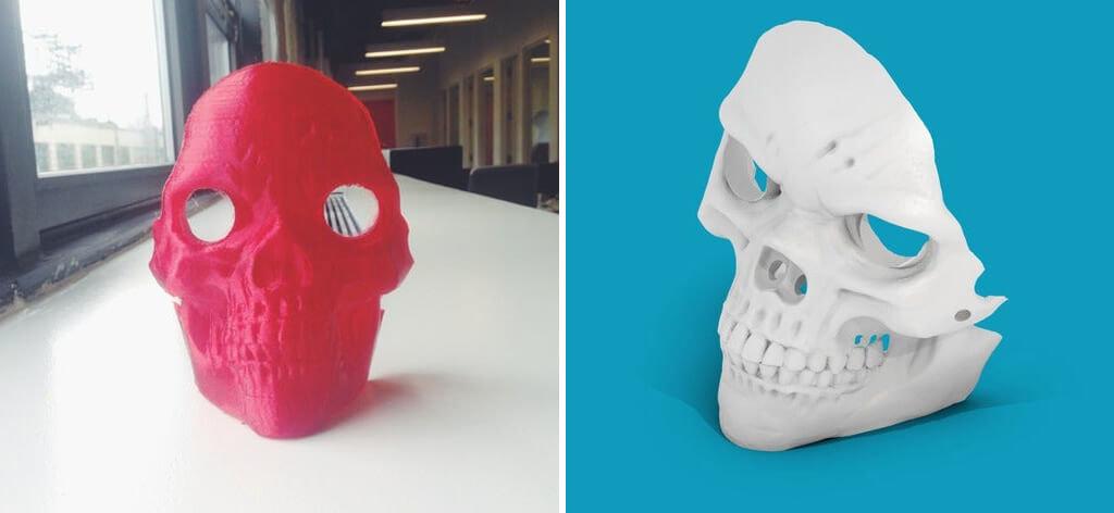 Skull mask 3D print