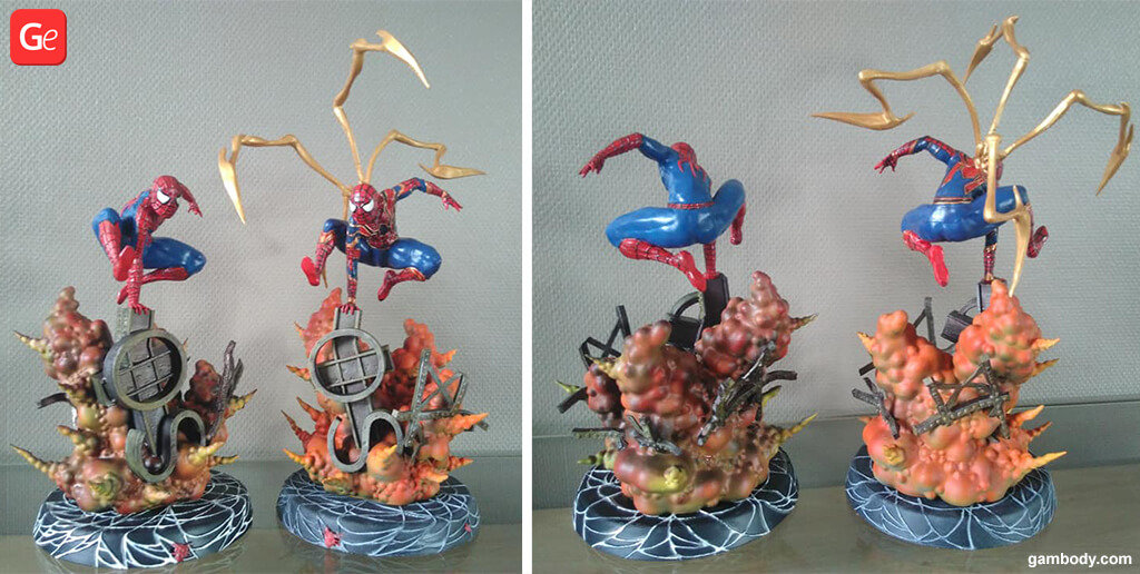 Spiderman figurines to 3D print trends 2019
