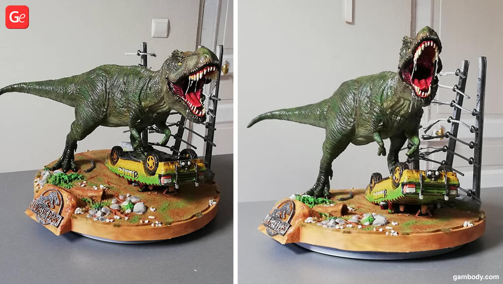 Jurassic Park diorama 3D printing trends