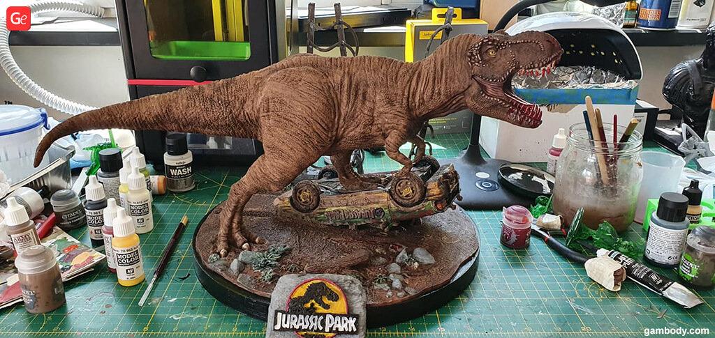 Dinosaur T-Rex trending 3D model to print