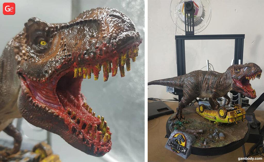 Jurassic Park T-Rex 3D printing trends
