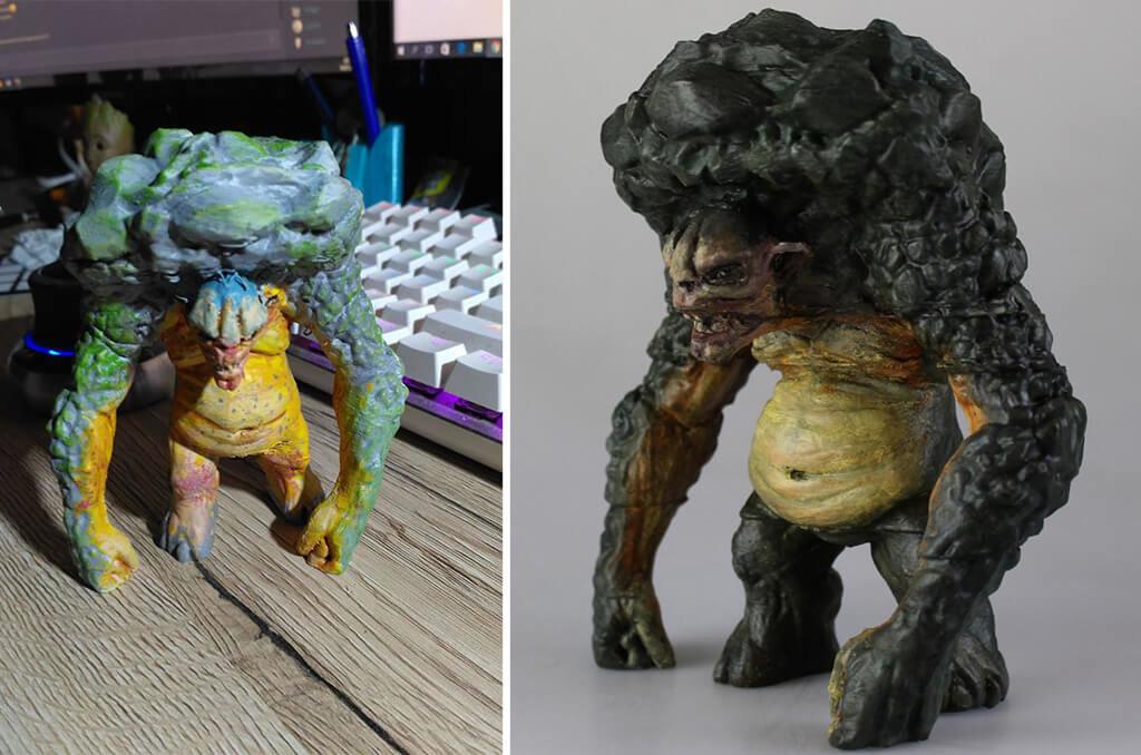 Troll Bart 3D printed figurine