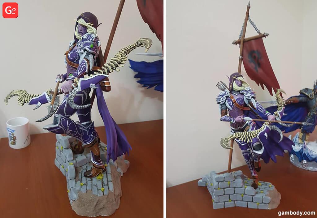 World of Warcraft Sylvanas 3D printed model