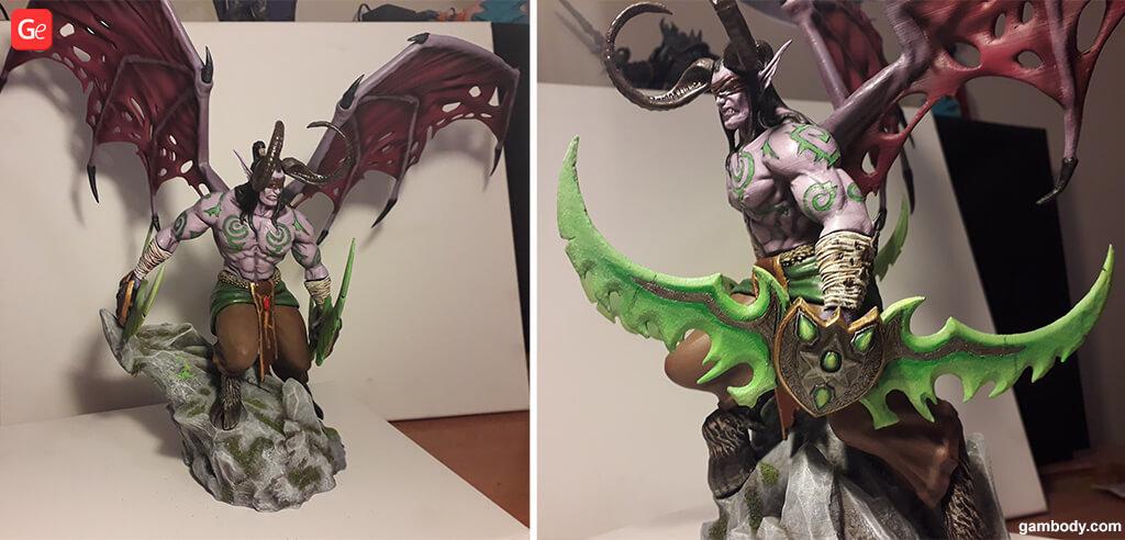 Warcraft Illidan statue 3D print STL