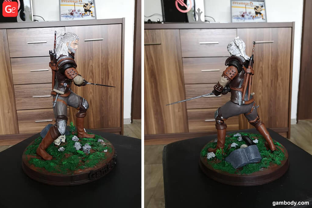 Witcher figurine 3D printing trends