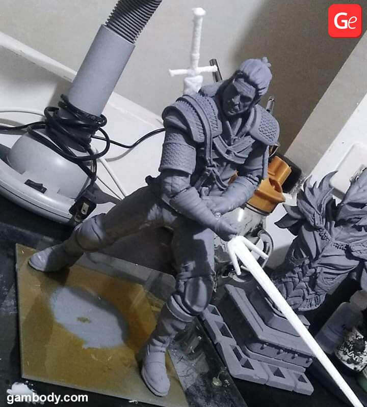 Witcher 3D print on Creality Ender-3 3D printer