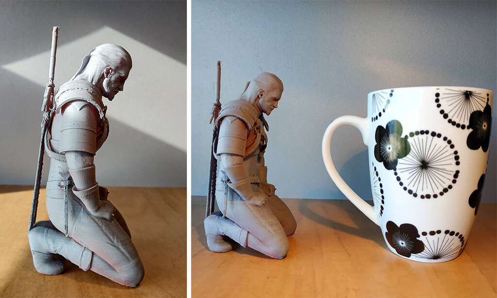 Geralt of Rivia figurine