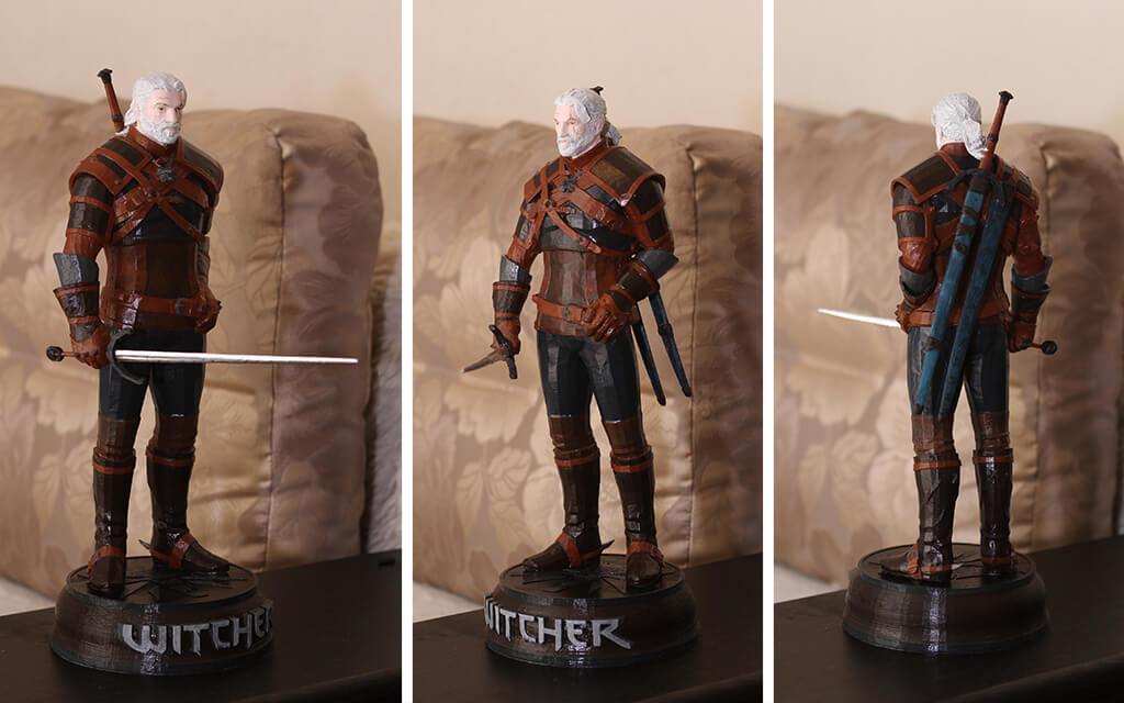 Geralt of Rivia 3D model to print