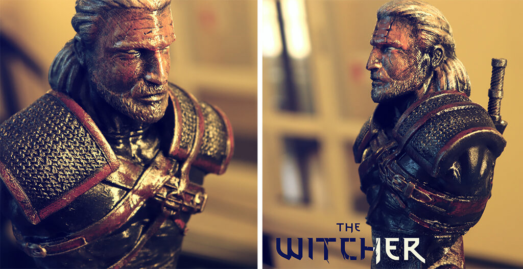 The Witcher bust 3D print