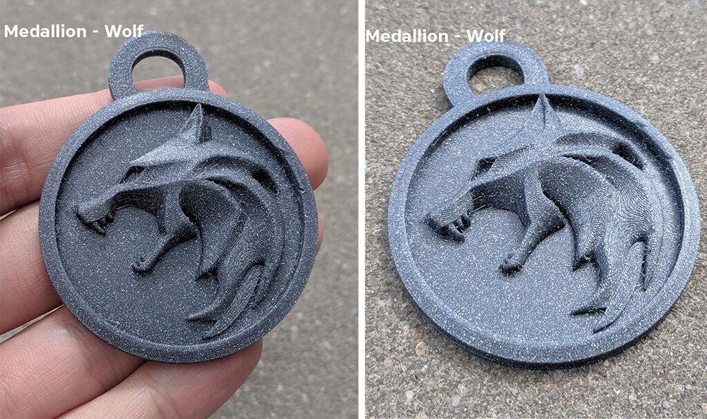 Witcher wolf amulet medallion