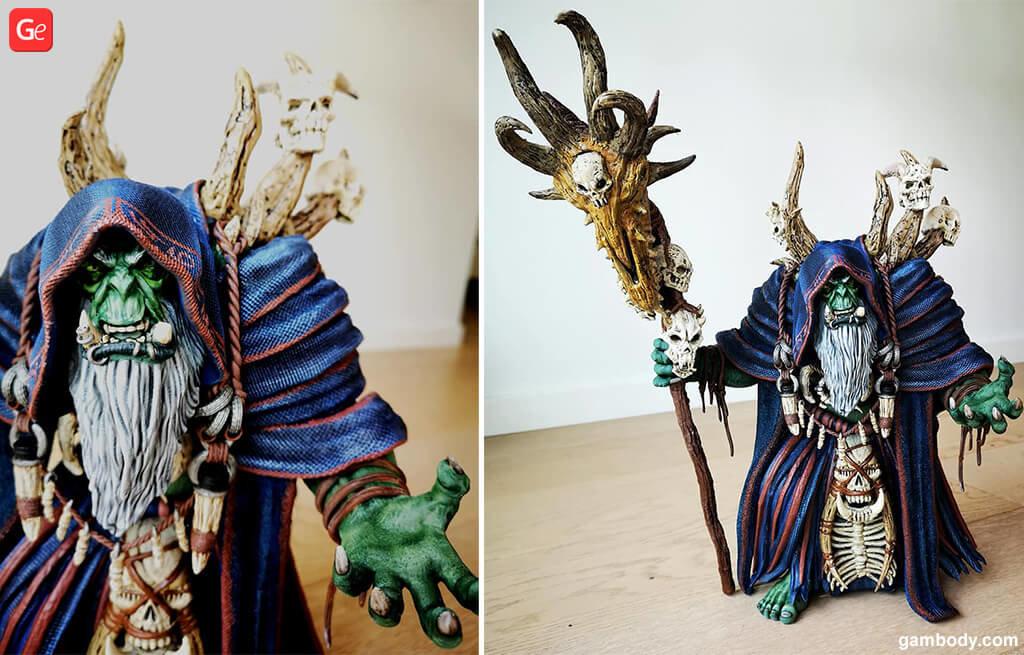 World of Warcraft Gul'dan 3D printing statue