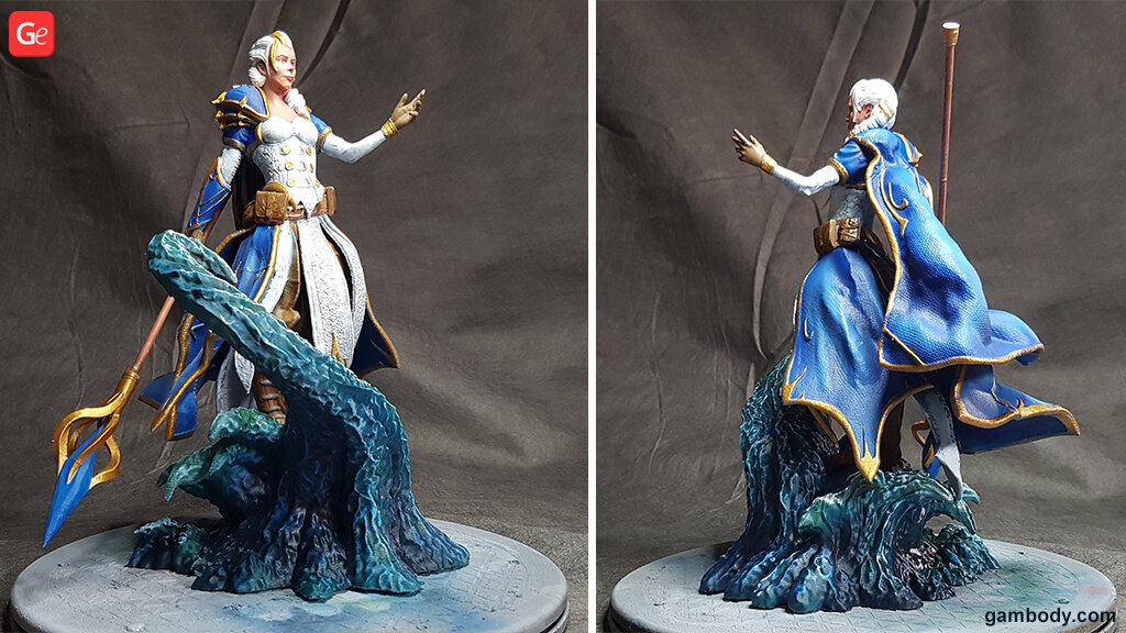 World of Warcraft Jaina statue 3D printed model