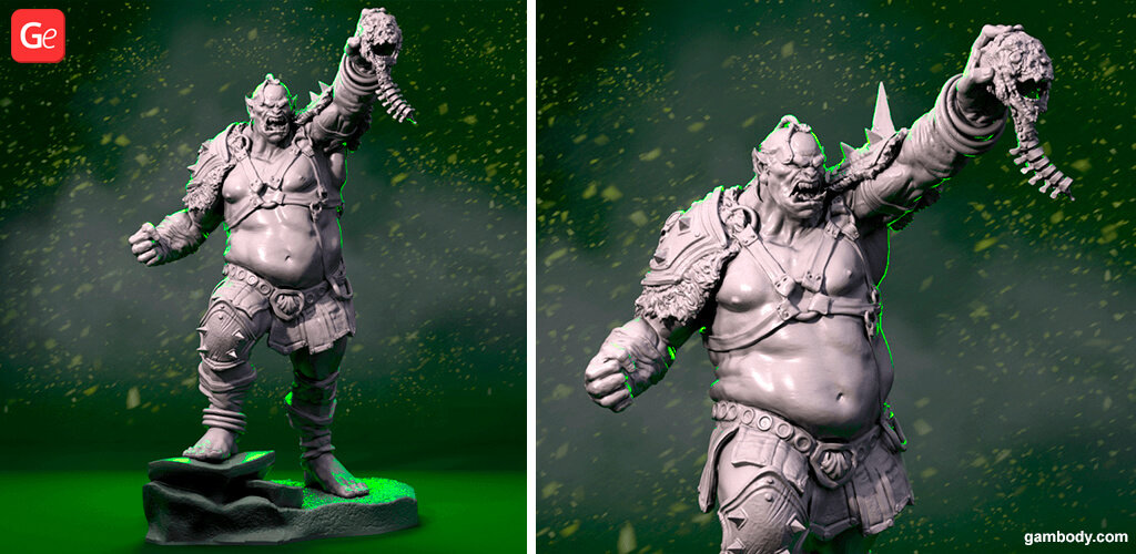 World of Warcraft Orc warrior statue 3D printing model
