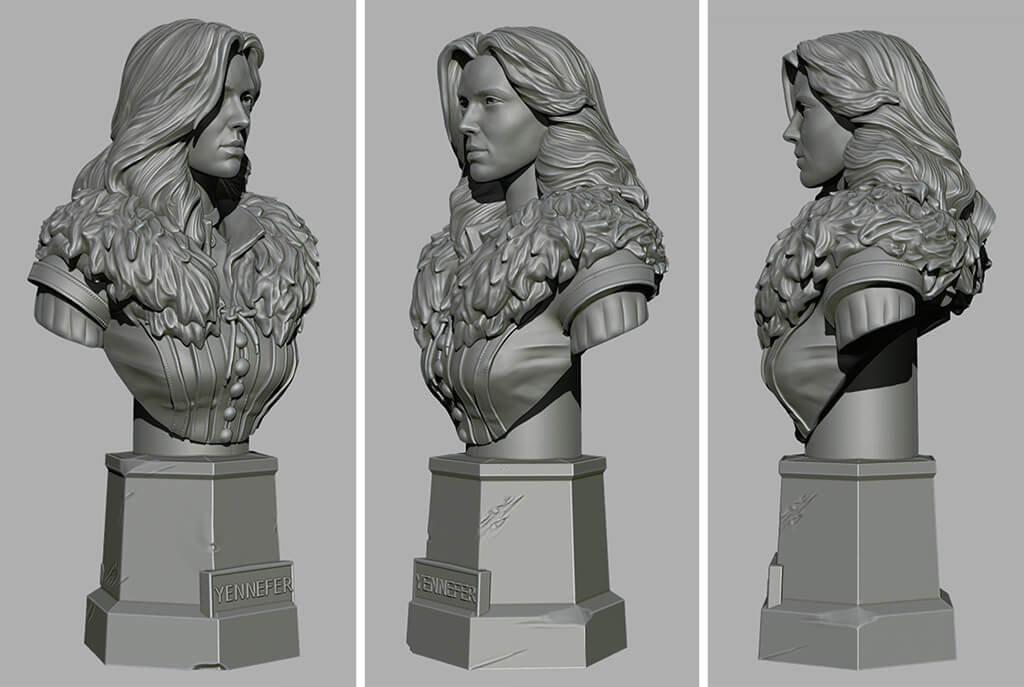 Yennefer 3D model to print