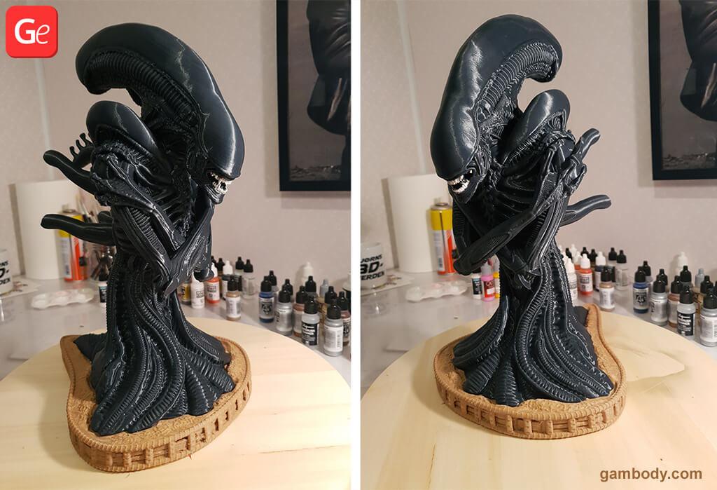 Alien Xenomorph bust 3D printed toys STL