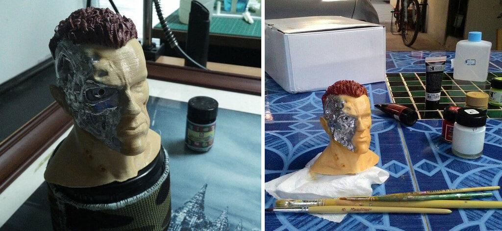 Arnold Schwarzenegger 3D model printed