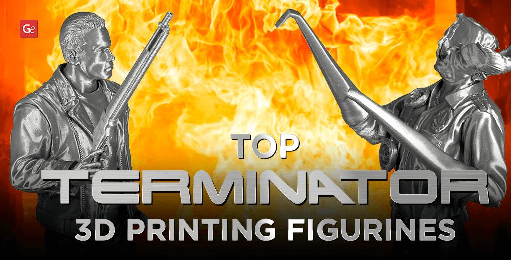 Terminator 3D printed figurines, toys, statues