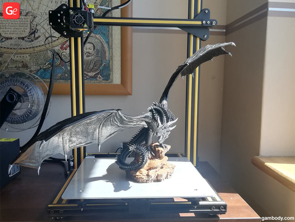 Drogon The Winged Shadow 3D printed toy