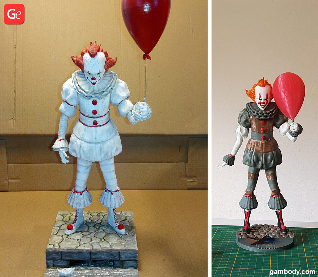 It Clown 3D printed toys trends 2019